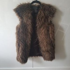Zara Faux Fox Vest